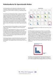 Risikolandkarte für Operationelle Risiken - Dr. Peter & Company AG
