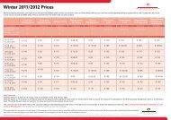 Winter 2011/2012 Prices - Sandton Hotels