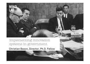 Download Christian Bason's presentation - IPAA WA