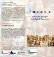 PHILOSOPHIE - Katholisches Bildungswerk im Landkreis Miesbach