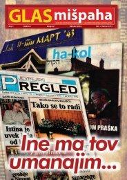 Broj 1 Godina I Beograd Oktobar 2010. Ti{ri – He{van 5771. - SJOS