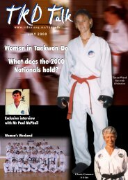 Women in Taekwon-Do What does the 2000 Nationals hold?
