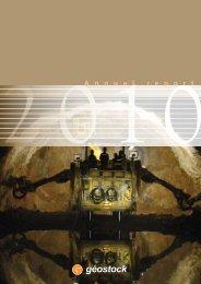 Annual report 2010 - Geostock