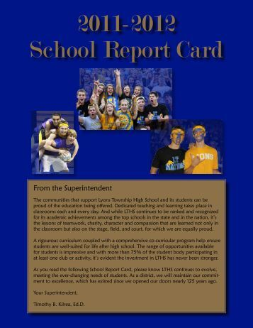 2011-2012 School Report Card - Lyons Township High School