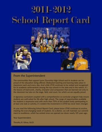2011-2012 School Report Card - Lyons Township High School