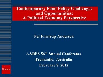 Contemporary Food Policy Challenges and Opportunities: A Political ...