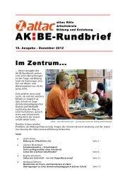 Rundbrief 16 - Arbeitskreis Bildung & Erziehung