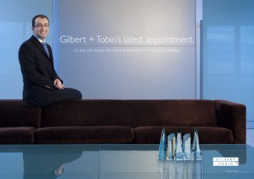 Gilbert + Tobin's latest appointment. - Gilbert and Tobin
