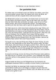Der gestiefelte Kater - Mainzer Kinder- und Jugendtheater