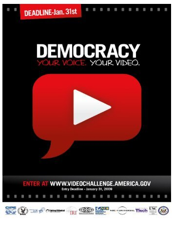 Download the Democracy Video Challenge flyer here (PDF 282KB)