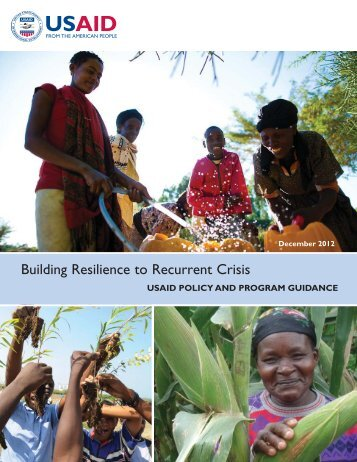 Policy & Program Guidance - Building Resilience to Recurrent Crisis_Dec 2012