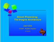 Stream Processing: The Imagine Architecture