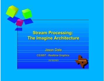 Stream Processing: The Imagine Architecture