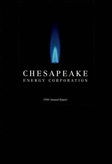 Chesapeake Energy 1998 Annual Report
