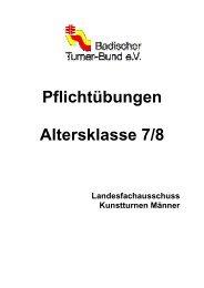 Pflichtübungen Altersklasse 7/8 - Kunstturnen männlich im BTB