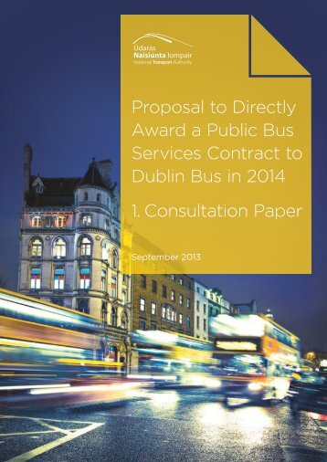1. Consultation Paper - National Transport Authority