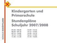 Stundenpläne Schuljahr 2007/2008 ... - Schule Schöftland
