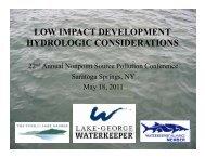 low impact development hydrologic considerations - NEIWPCC