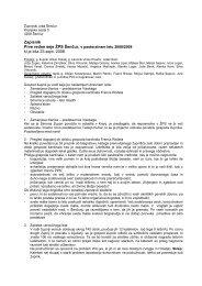 Zapisnik Prve redne seje ŽPS Šenčur, v pastoralnem letu 2008/2009 ...