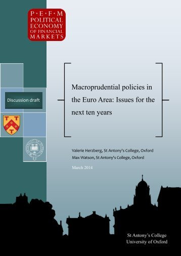 Dicussion draft - Macropru policies in the Euro Area