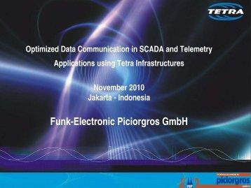 Optimising TETRA for Scada and Telemetry Michael Piciorgros