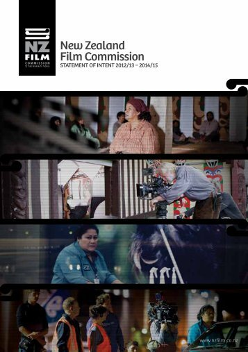 Statement of Intent 2012-15 - New Zealand Film Commission