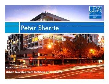 Peter Sherrie - Urban Development Institute of Australia
