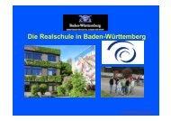 Die Realschule in Baden-Württemberg - Dr.-Engel-Realschule