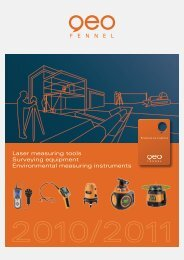 Laser measuring tools Surveying equipment ... - geocas