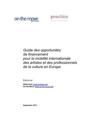 Guide des opportunités de financement pour la ... - On the Move
