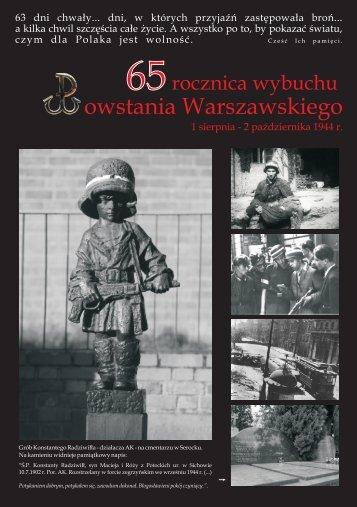ulotka o Powstaniu Warszawskim - PL
