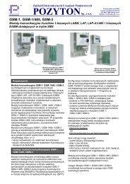GSM-1, GSM-1/485, GSM-3 - POZYTON