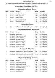 Bei der Bezirksmeisterschaft 2013 - St. Antonius ...