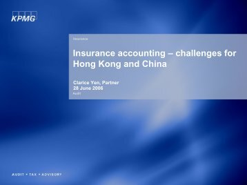Challenges for Hong Kong and China by Ms. Clarice Yen - Actuarial ...