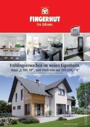 Frühlingserwachen im neuen Eigenheim. - Fingerhut Haus GmbH ...