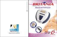 189 05 00 Rev5 Folheto de Instruções Depilador Duplo - Britânia