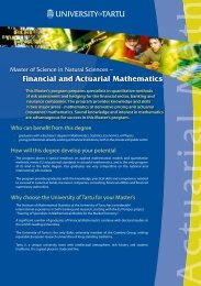 Financial and Actuarial Mathematics