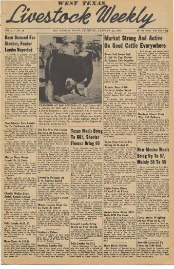 January 12, 1950 - Livestock Weekly!