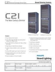 C21 Dimming System - Dimmer Rack - Strand Lighting