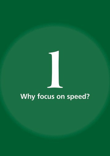 Why focus on speed? - libdoc.who.int - World Health Organization