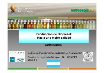 Producción de Biodiesel: Hacia una mejor calidad - Mercosoja 2011