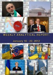 Weekly analytical report: January 11 - 22, 2012 - Українська ...