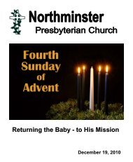 Returning the Baby - to His Mission - Northminster Presbyterian ...