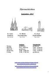 Pfarrnachrichten September 2013 - Katholische Pfarrgemeinde St ...