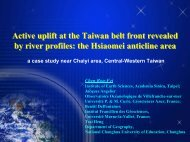Active uplift at the Taiwan belt front revealed by ... - Academia Sinica