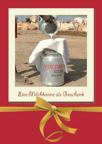 Eine Milchkanne als Geschenk - Tierärzte ohne Grenzen eV