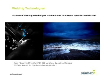 Transfer of welding technologies from offshore to ... - IPLOCA.com