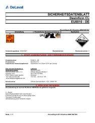 SICHERHEITSDATENBLATT Desinficin CL EU0010 - DE - DeLaval