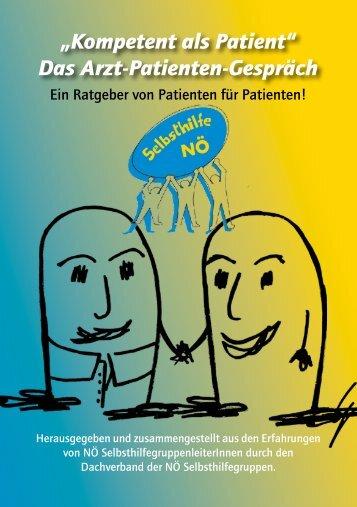 """""""Kompetent als Patient"""" Das Arzt-Patienten-Gespräch - NÖ Patienten"""
