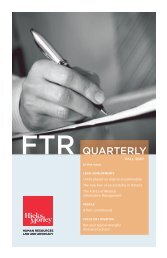 FTR Quarterly - Hicks Morley